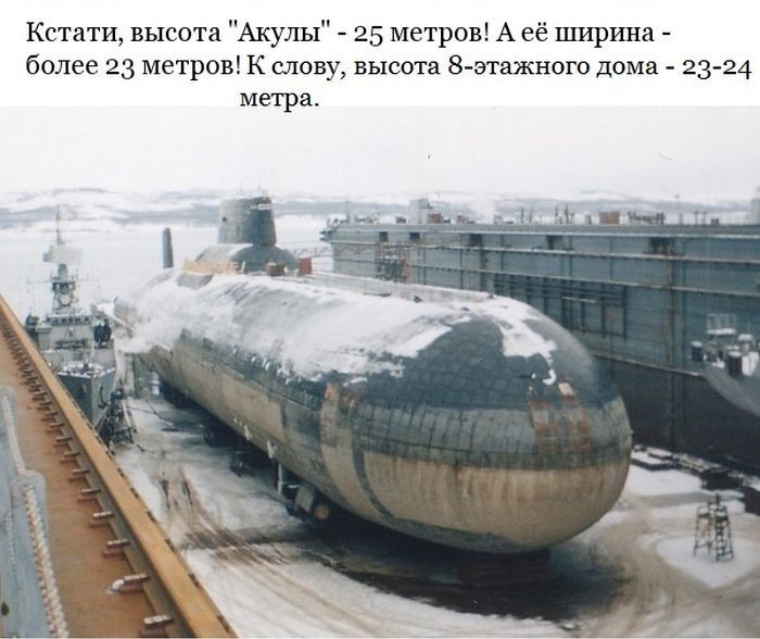 "Гигантская подводная лодка проекта 941 - ""Акула"" (13 фото)"