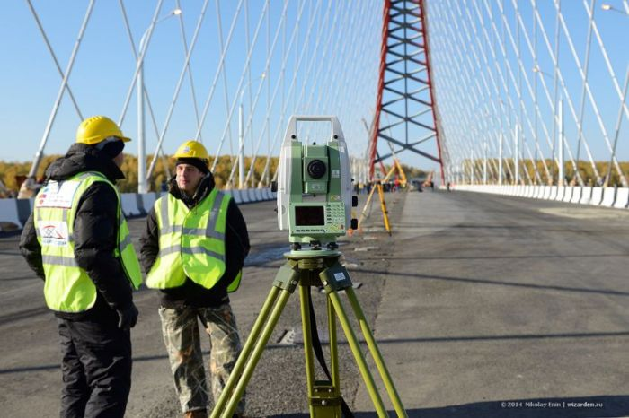 Испытание нового Бугринского моста на прочность (37 фото)