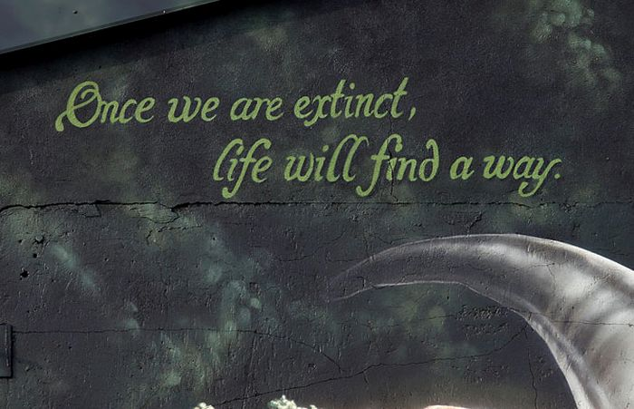 """Граффити в стиле """"Парк Юрского периода"""" (25 фото)"""