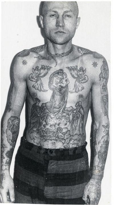 Тюремные татуировки времен <u>что означает тату эполеты на плече</u> СССР и их описание (18 фото)