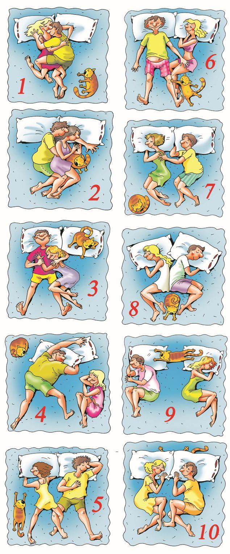 позы для сна в картинках