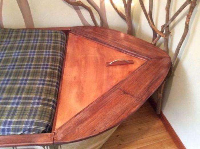 Детская кровать в виде лодки своими руками (12 фото)