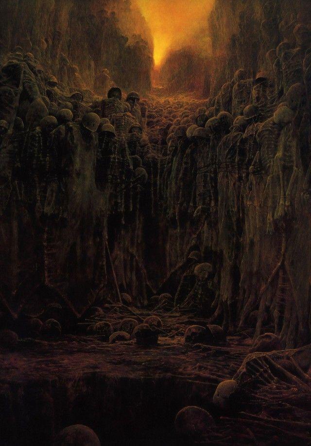 Необычные картины Здзислава Бексиньского (27 рисунков)