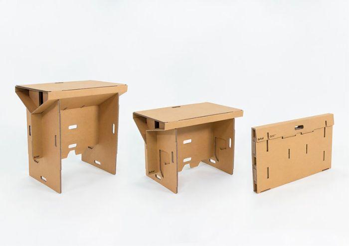 Рабочий стол-трансформер из картона (9 фото)