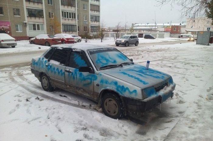 Неудачная попытка автомести бывшему парню (6 фото)