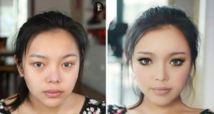 Правильный макияж и его чудодейственная сила (24 фото)