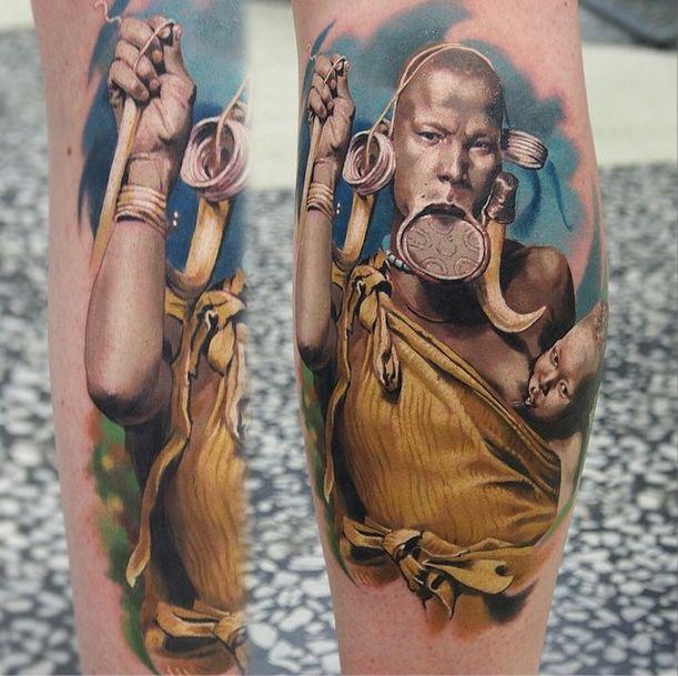Удивительно реалистичные татуировки Валентины Рябовой (30 фото)