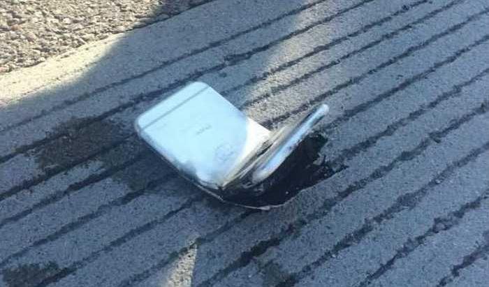 iPhone 6 оставил сильный ожег на ноге своего владельца (5 фото)