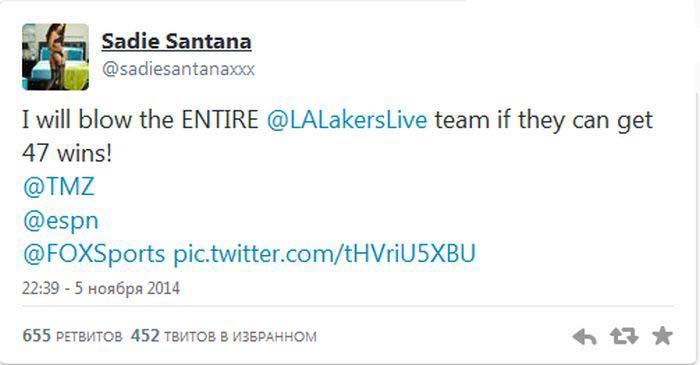 Баскетболисты из команды LA Lakers получат секс за 47 побед (42 фото)