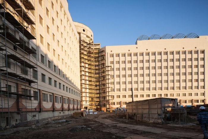 Фоторепортаж с места строительства новых «Крестов» (20 фото)