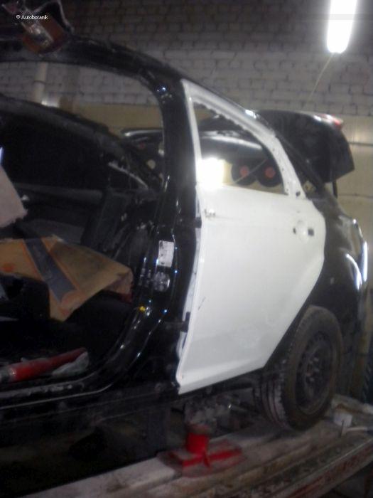 Фотоотчет о восстановлении «перевертыша» Ford Focus (73 фото)