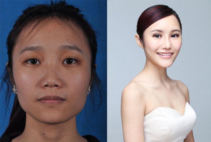Из-за пластических операций китаянки не могут вернуться на родину (19 фото)