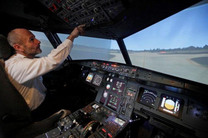 Авиасимулятор собственноручной сборки (15 фото)