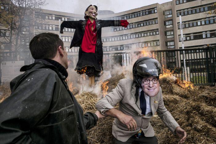 День протеста французских фермеров (25 фото)