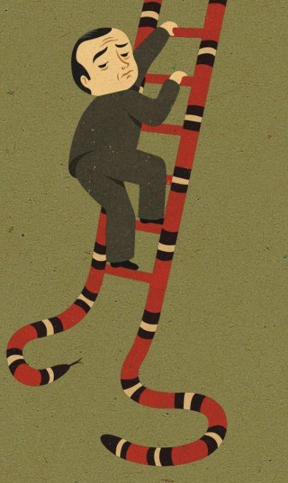 Сатирические иллюстрации Джона Холкрофа (50 рисунков)