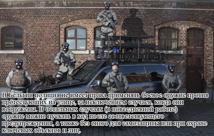 Право на применение оружия для усмирения толпы в разных странах (13 фото)