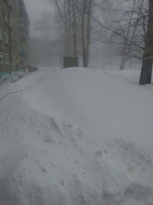 На Дальний Восток обрушился сильнейший снегопад (35 фото)
