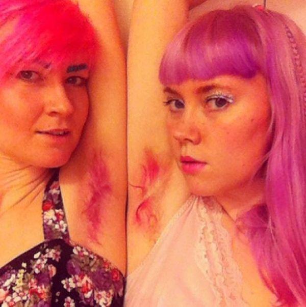 Небритые цветные подмышки стали новым модным трендом (23 фото)