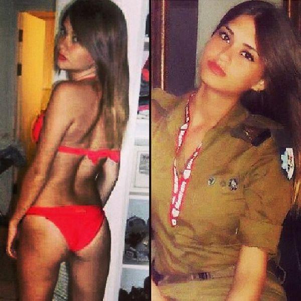 Симпатичные девушки-военнослужащие израильской армии (54 фото)