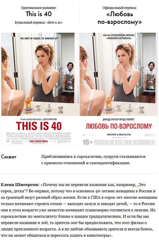 Перевод зарубежных фильмов для нашего зрителя (6 фото)