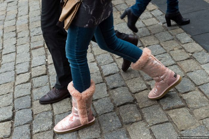 О женской моде и о том, как не стоит одеваться зимой (24 фото)