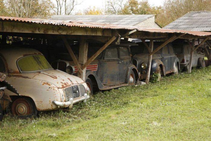 Многомиллионная коллекция авто в заброшенных ангарах (21 фото)