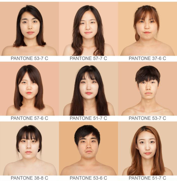 Оттенки человеческой кожи