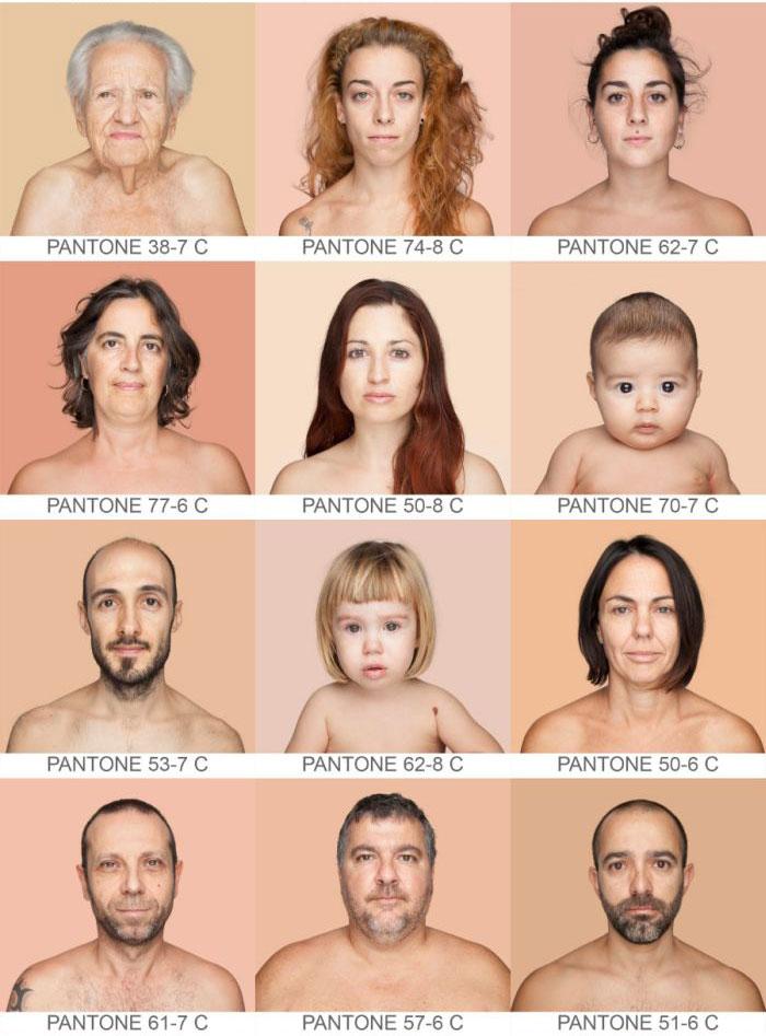 Многочисленные оттенки человеческой кожи (19 фото)