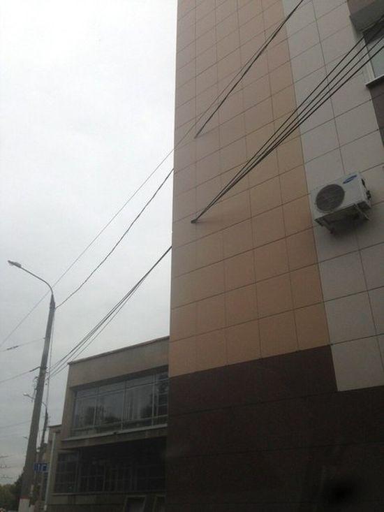 В Твери строители проявили «гениальную» смекалку (3 фото)