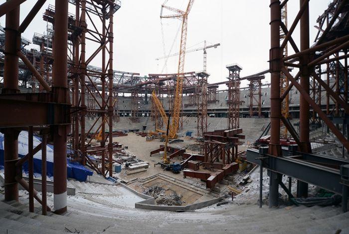 Cтадион «Зенит-Арена» начал, наконец, строиться (16 фото)