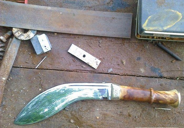 Универсальный непальский нож кукри своими руками (49 фото)
