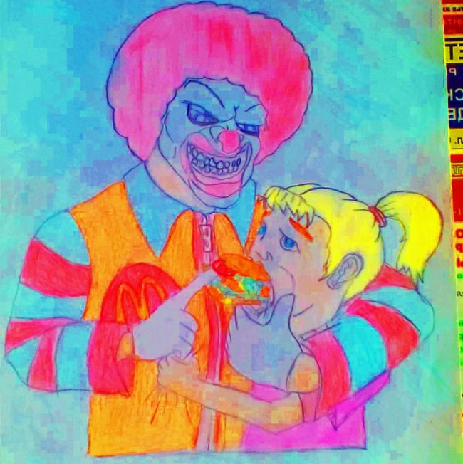 Нестандартный детский рисунок для конкурса от Макдоналдса (2 фото)