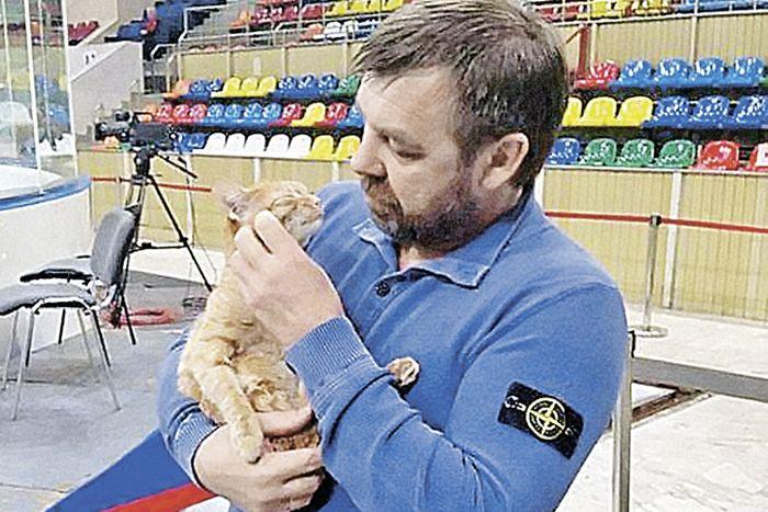 Кошка из аэропорта Владивостока станет талисманом ХК «Адмирал» (7 фото)