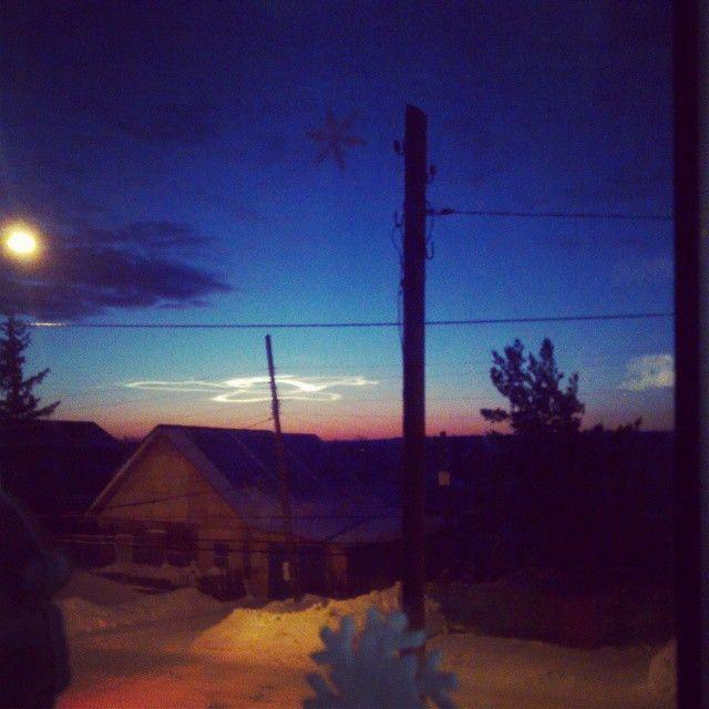 Природный феномен над вечерним Барнаулом (9 фото)