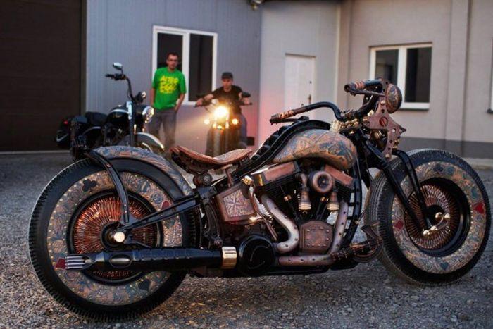 Уникальный мотоцикл Recidivist от мастерской Game Over Cycles (31 фото)