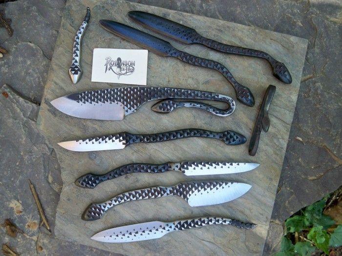 Необычные ножи из металлических предметов (30 фото)