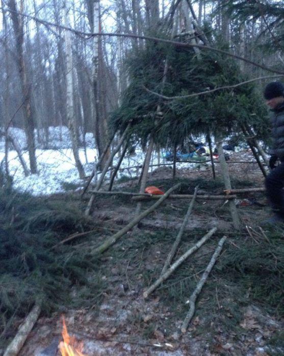 Отчет о встрече Нового Года в лесу (20 фото)