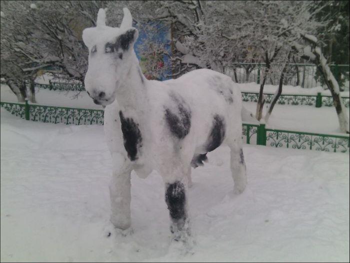 Яркие снеговики из Татарстана (25 фото)