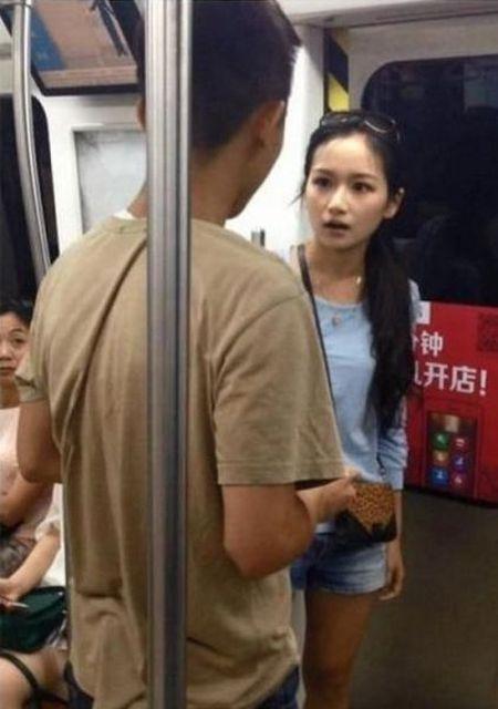 Китаянка проучила своего бойфренда (6 фото)