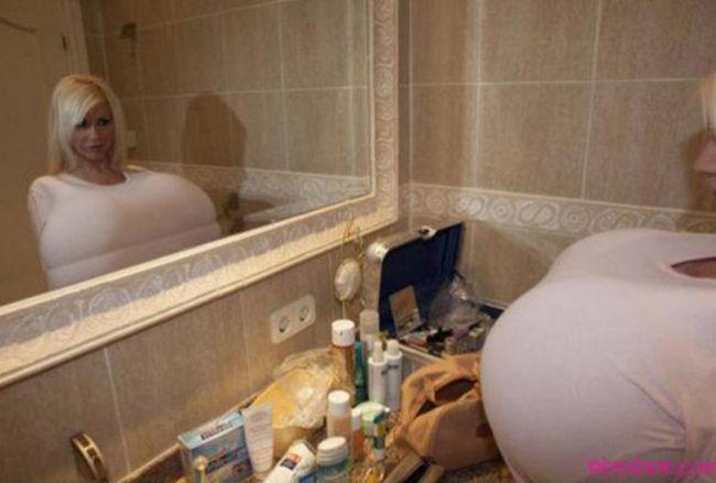 Майра Хиллс (Mayra Hills), обладательница самого большого бюста в мире (14 фото)