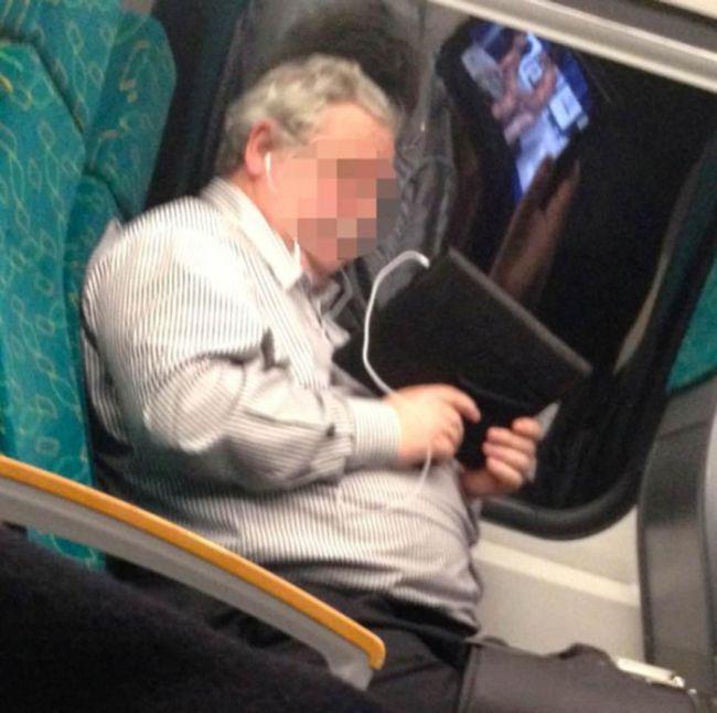Пассажир, который не скучает в пути (2 фото)