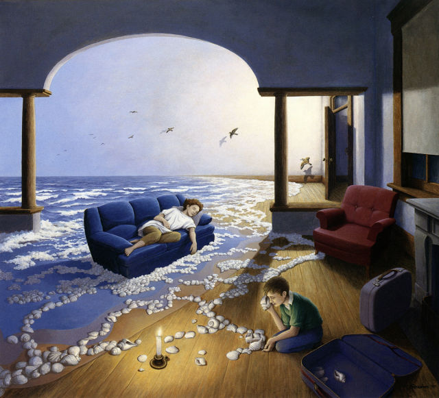 Surrealist Robert Gonsalves 'tan Şaşırtıcı Resimler ( 46 Fotograf)
