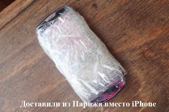 По пути из Парижа в Санкт-Петербург iPhone превратился в муляж (2 фото)