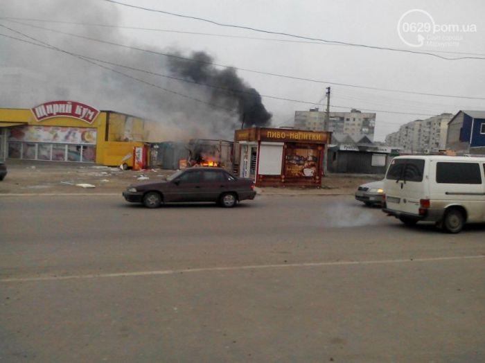 Обстрел жилого района в Мариуполе