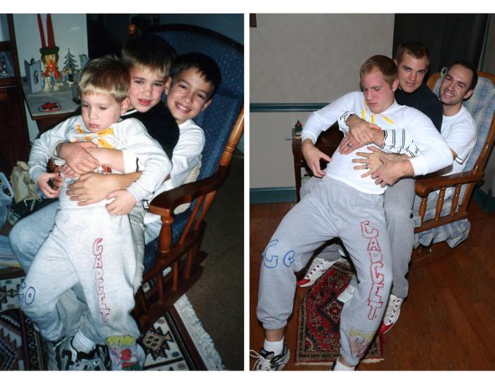 Рождественский подарок для мамы от ее креативных сыновей (13 фото)