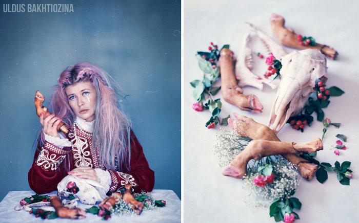 Сюрреалистичный фотопроект «Русские сказки на новый лад» от Юлдуз Бахтиозины (18 фото)