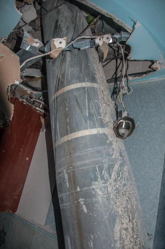 Ракета «Смерч» угодила в жилой дом (4 фото)