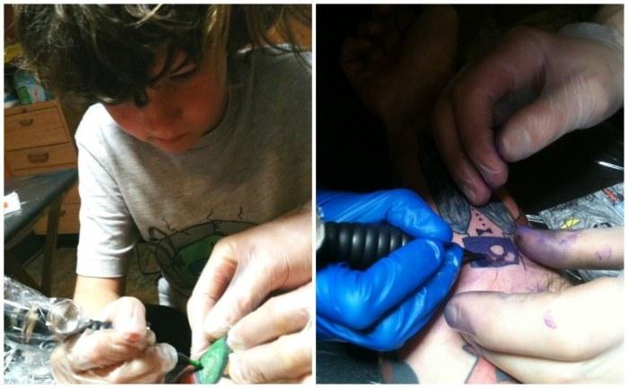 Детские рисунки превратились в татуировки на руках отца (10 фото)