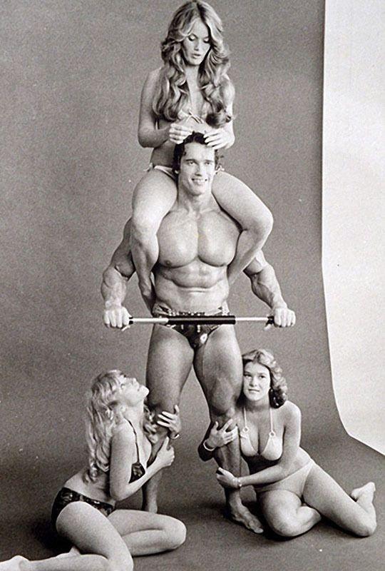 Арнольд Шварценеггер и его похотливые развлечения в молодые годы. НЮ (12 фото)