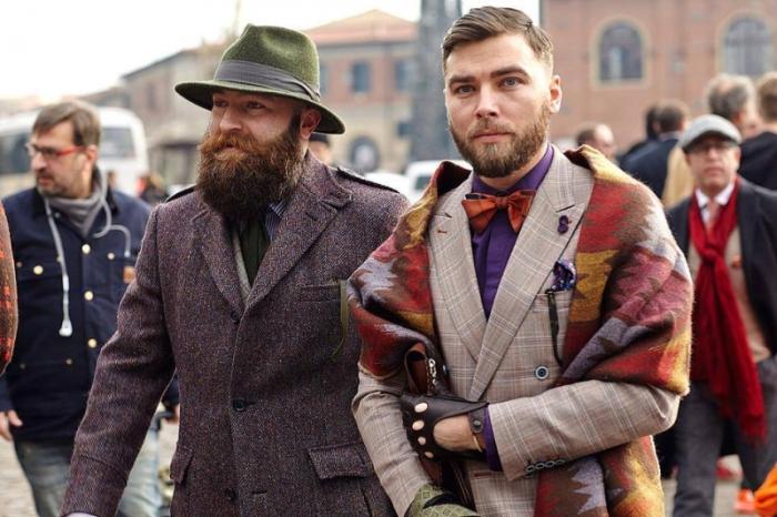 Итальянские мужчины-модники на выставке Pitti Uomo (14 фото)